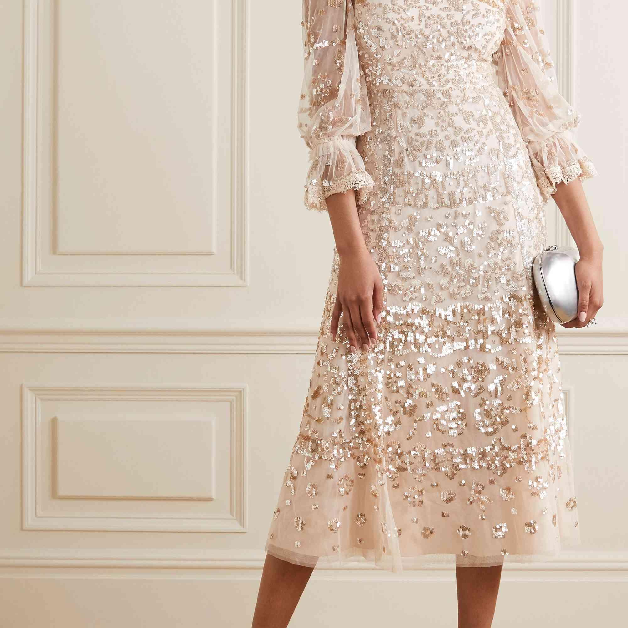 blush sparkle dress