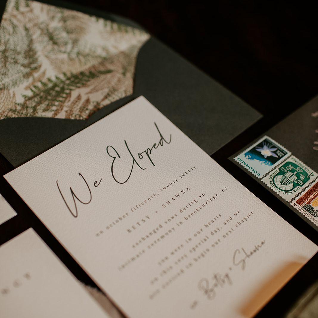 Detail of invitation suite