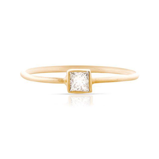 Smith + Mara Princess-Cut Diamond Stackable Ring