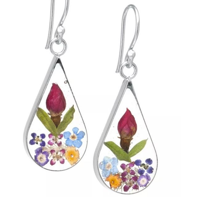 Floral Earrings Flower Earring Set Stud Flower Earrings Dangle Flower Earrings Flower Jewelry Purple Flower Earrings Flower Earrings