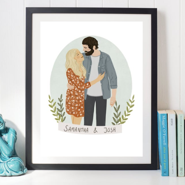 Custom Couples Illustration