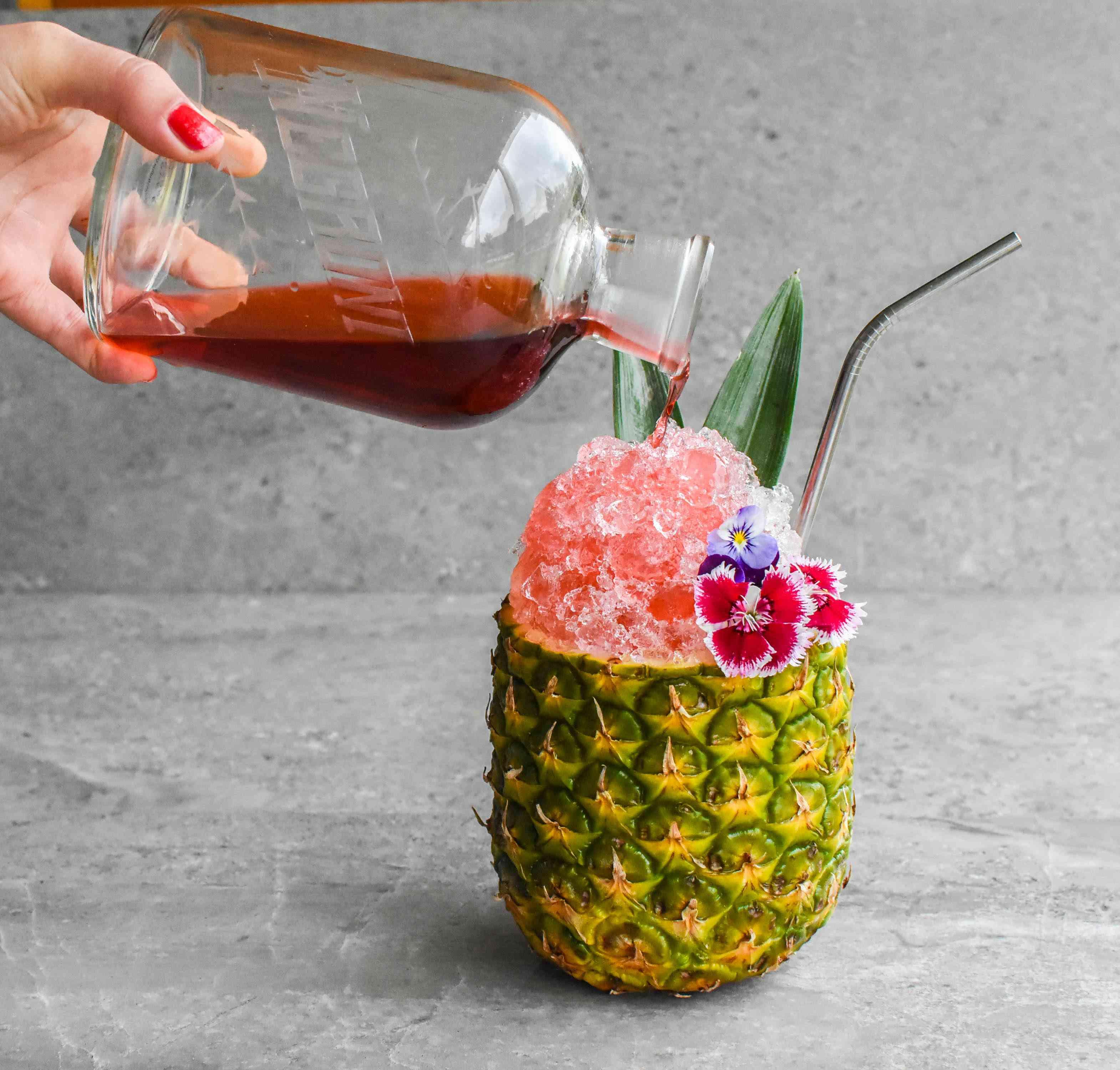 beautiful booze tropical negroni cocktail