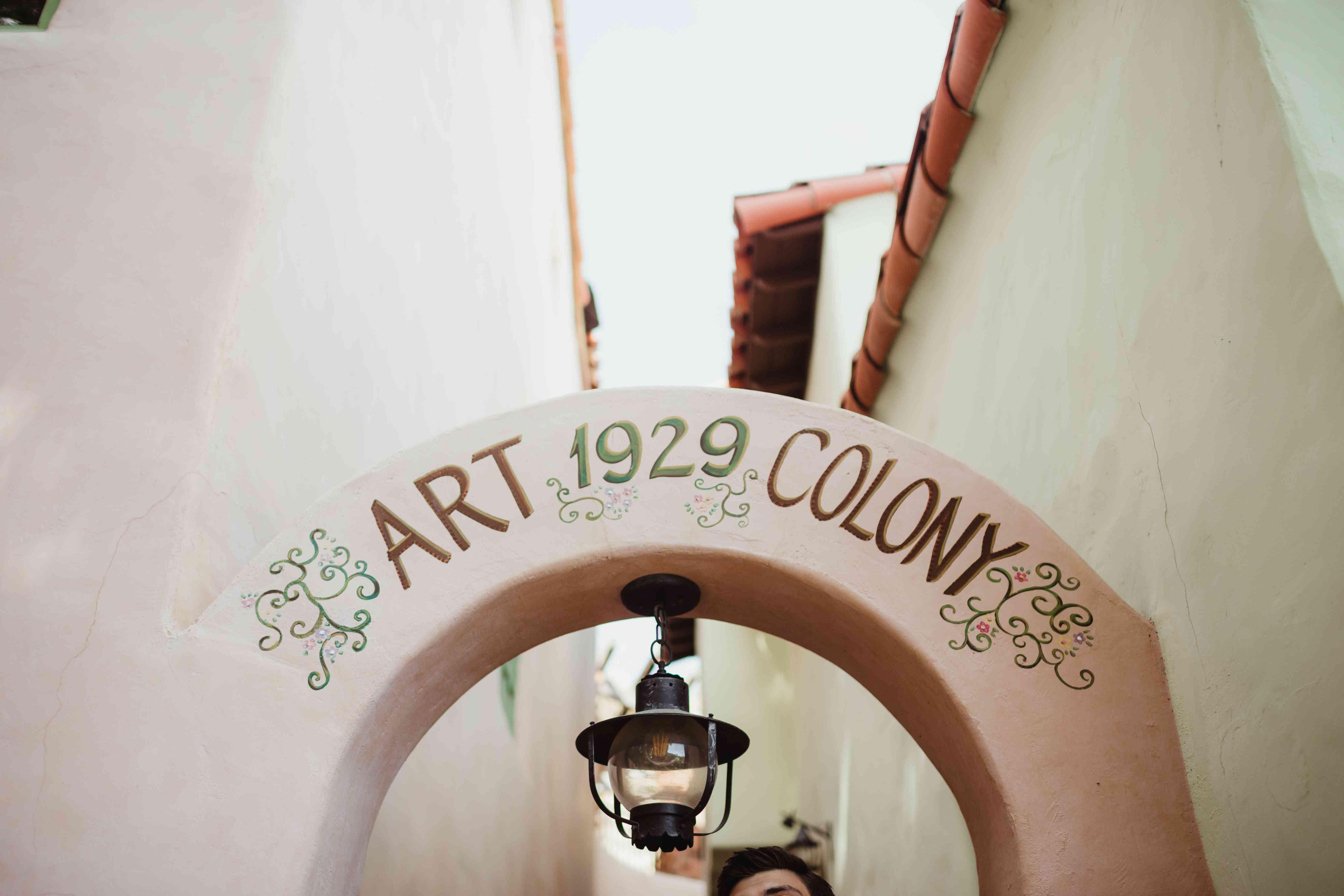Art colony sign
