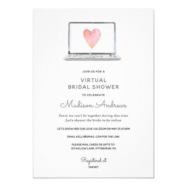 Zazzle Virtual Bridal Shower Invitation