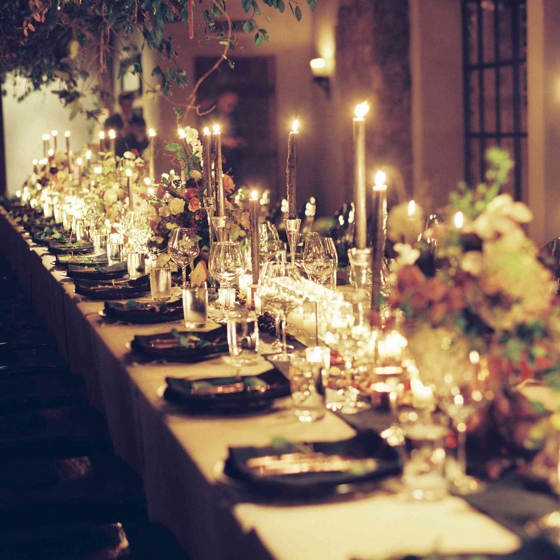 candlelit table scape