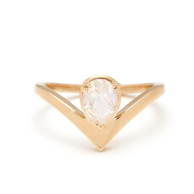 Anna Sheffield Celestine Orbit Pear-Shaped Ring