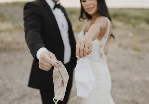 COVID Wedding couple