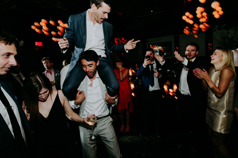 groom dancing