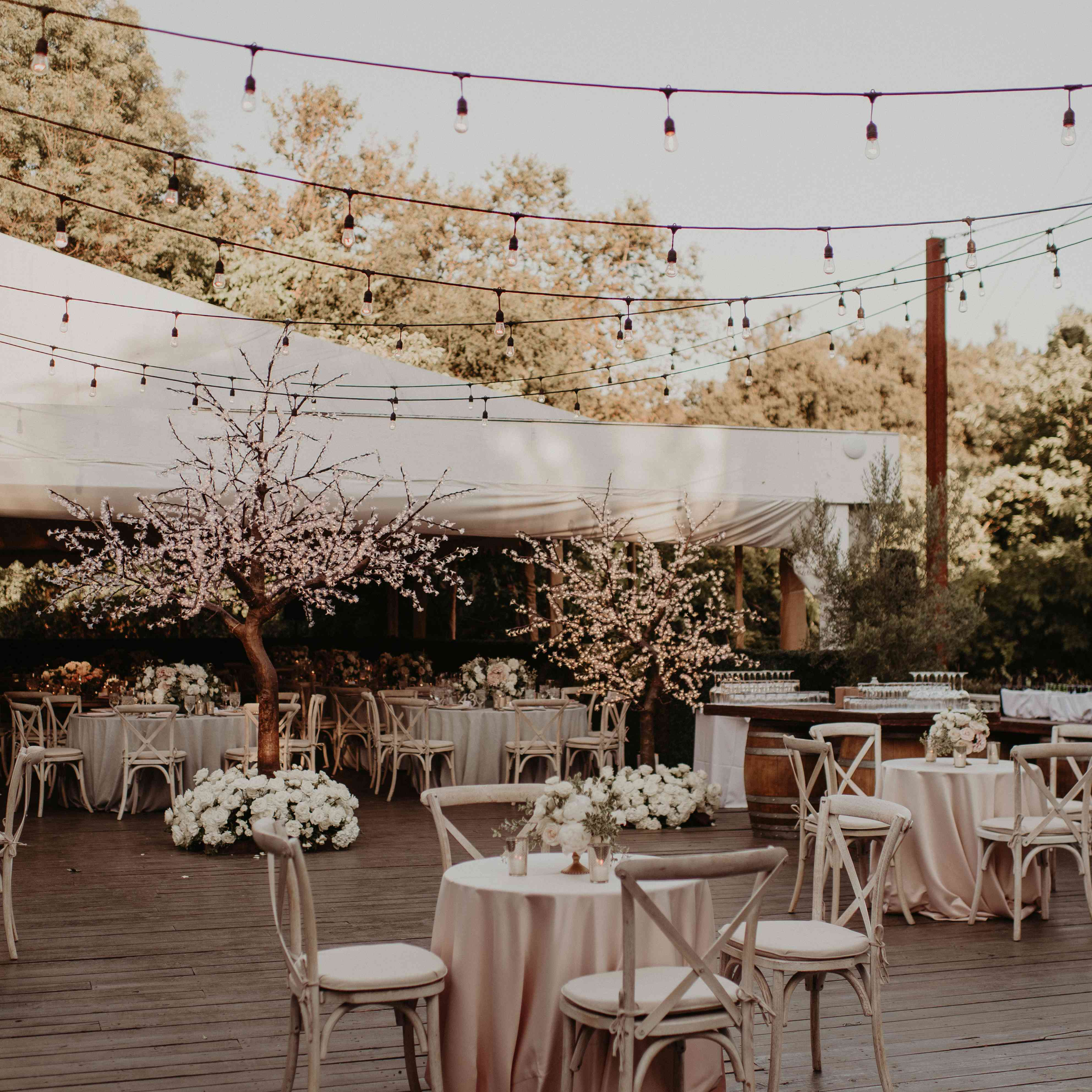 Baker Mayfield Wedding, patio