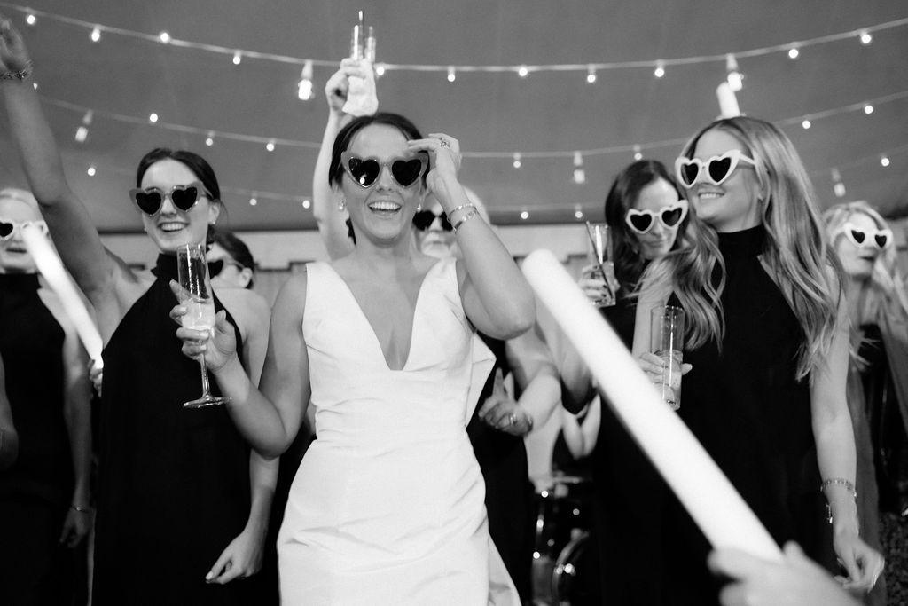 augusta wedding, bridesmaids dancing