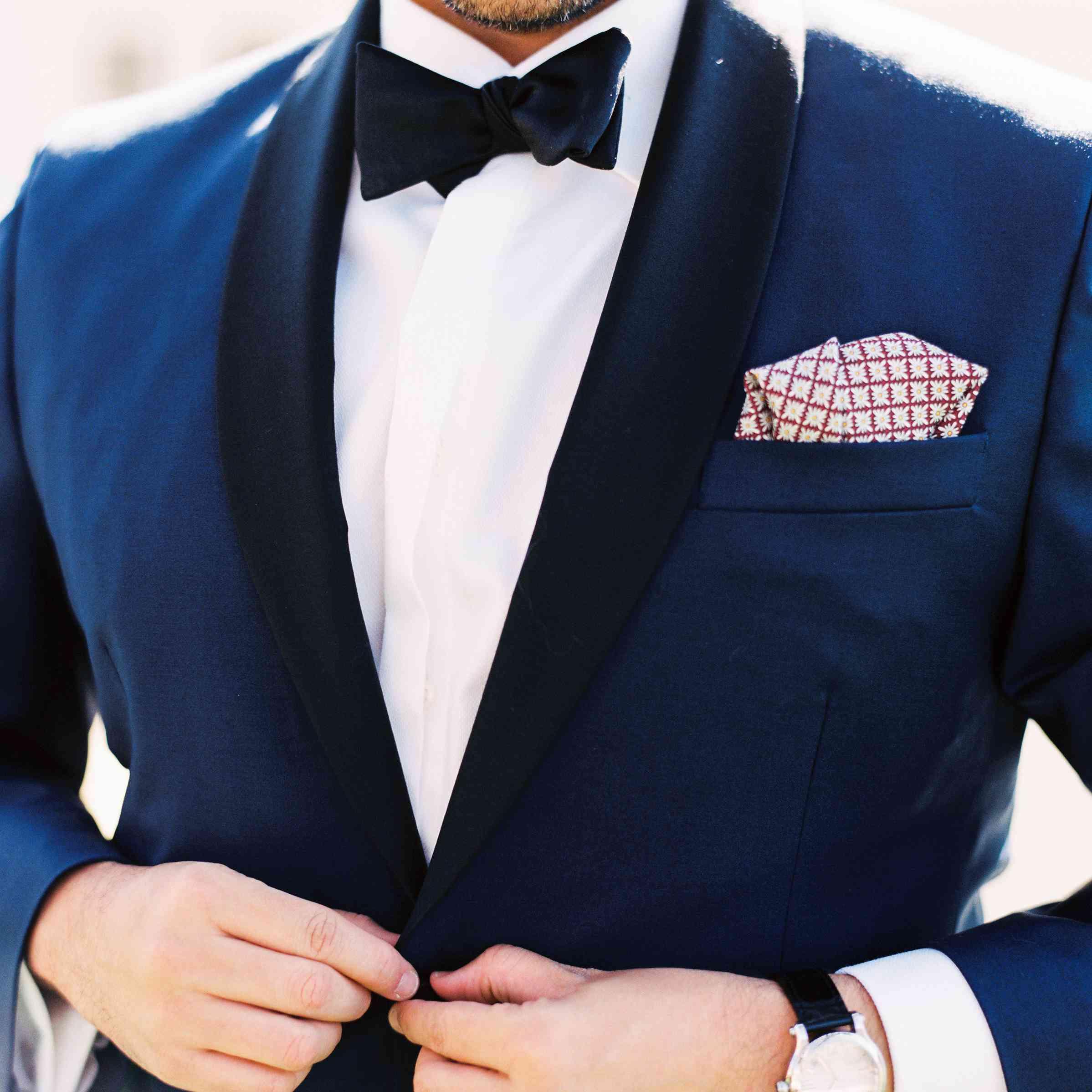 Groom in Shawl-Collar Tuxedo