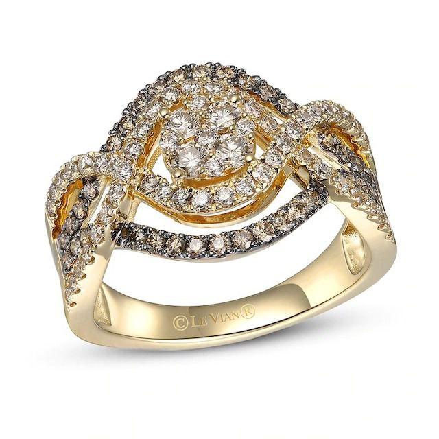 Kay Jewelers Le Vian Diamond Ring 14K Honey Gold