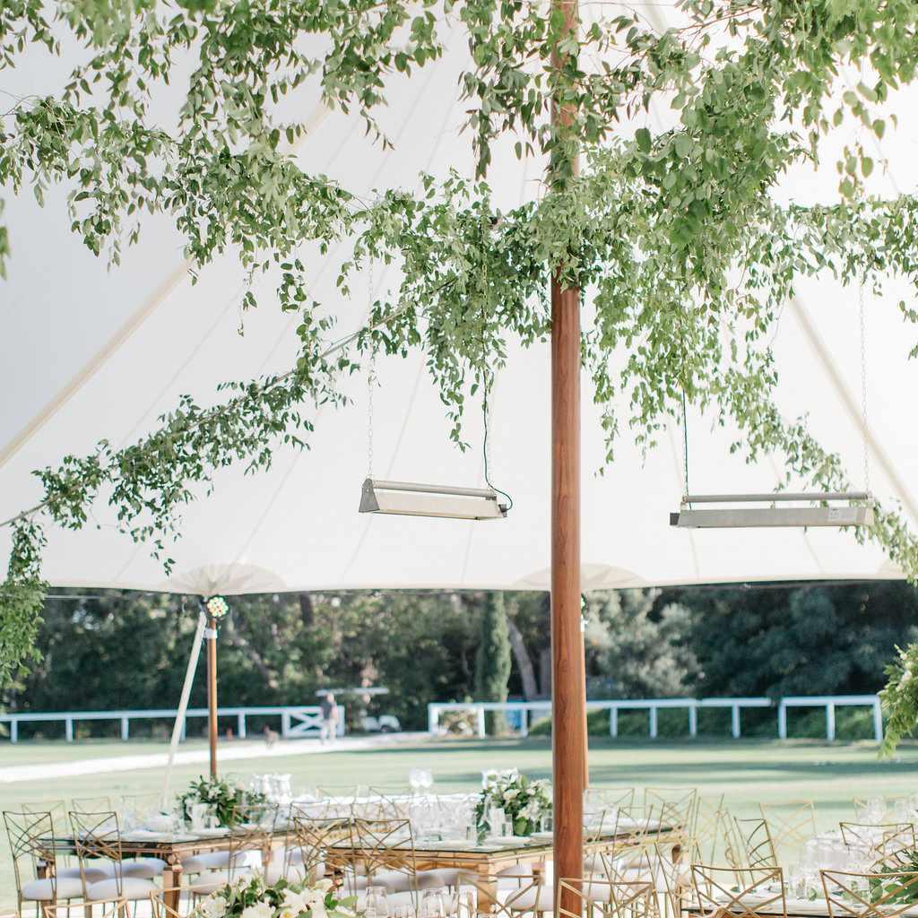 Wedding reception outdoor decor