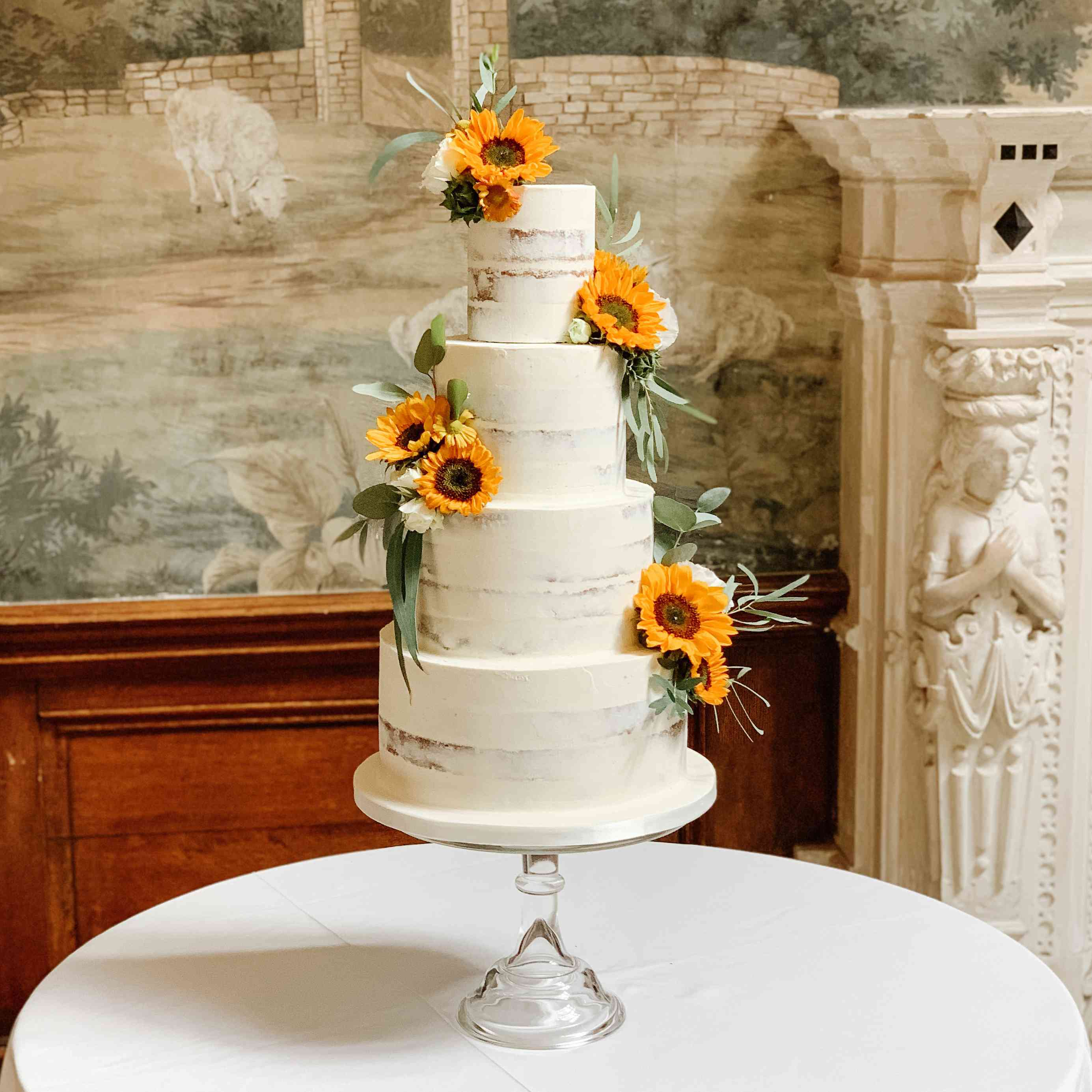 14 Sunflower Wedding Cake Ideas