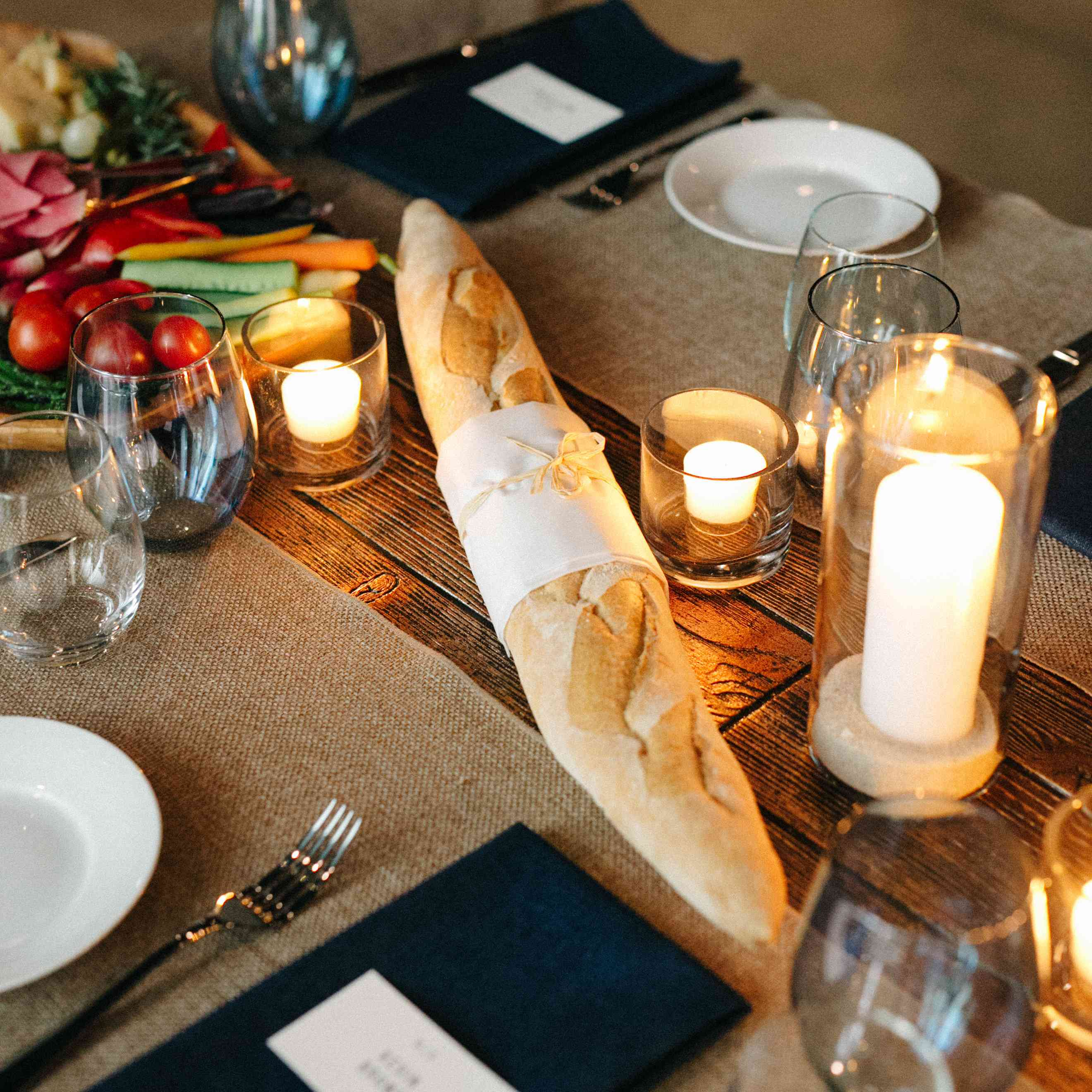 <p>Baguette on table</p><br><br>