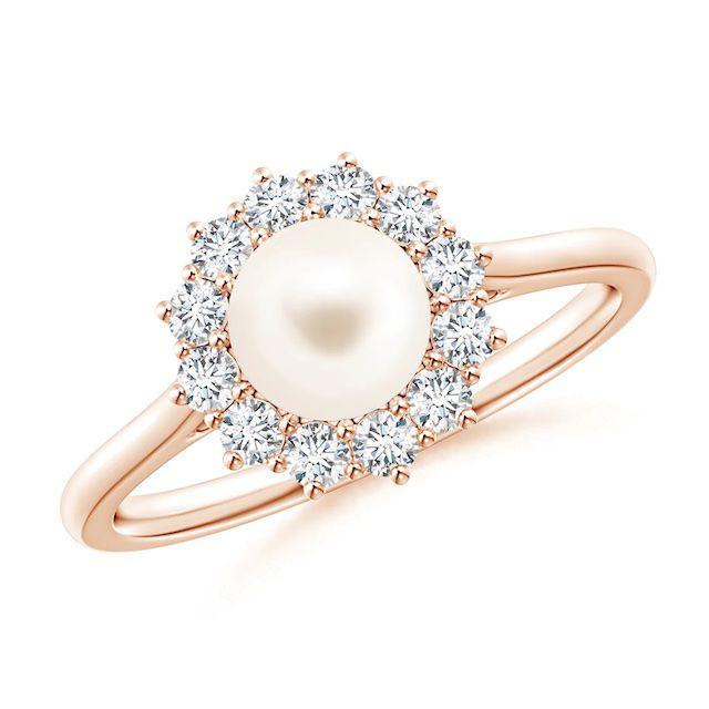 Angara Princess Diana Inspired Freshwater Pearl Ring