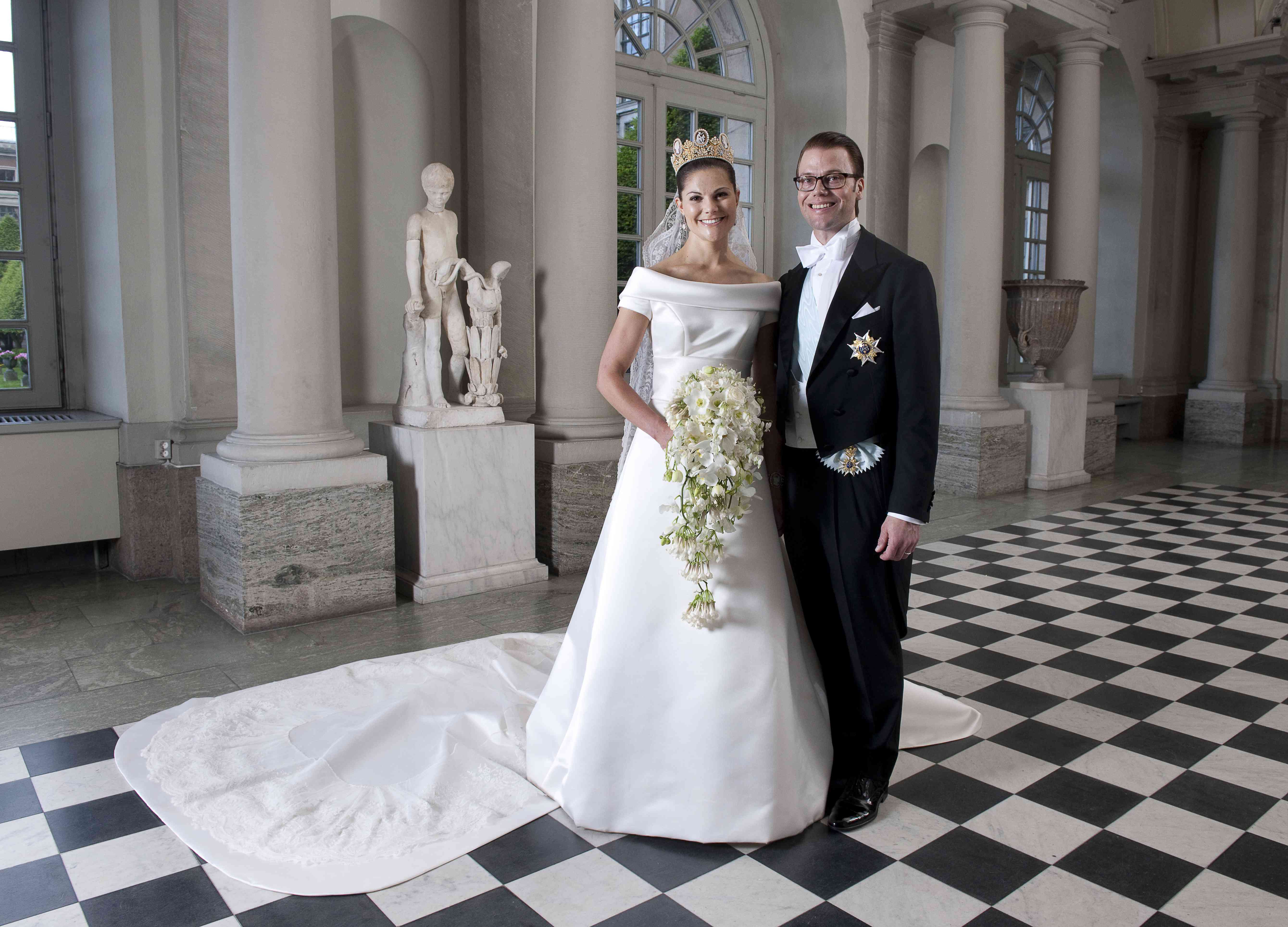 Princess Victoria of Sweden and Prince Daniel on their wedding day