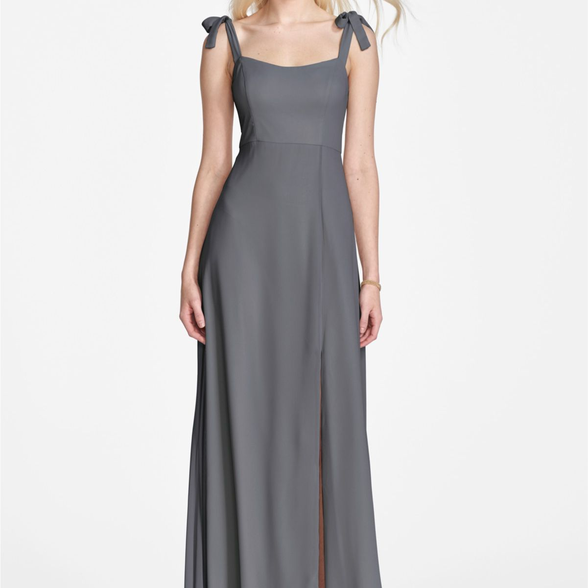 bow shoulders dress