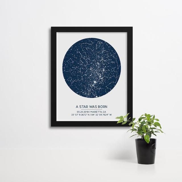 Finch and Cotter Custom Star Map