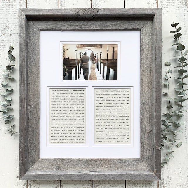 Personalised Engagement Photo Frame Engraved With Your Choice Text