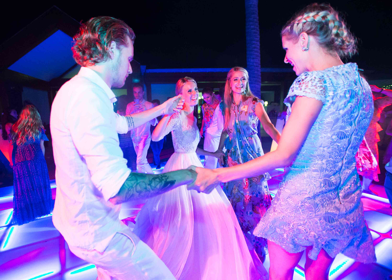 hilton family dancing