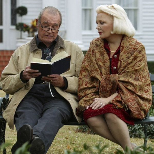 An elderly Noah and Ally in the Notebook (film) as Noah reads to Ally