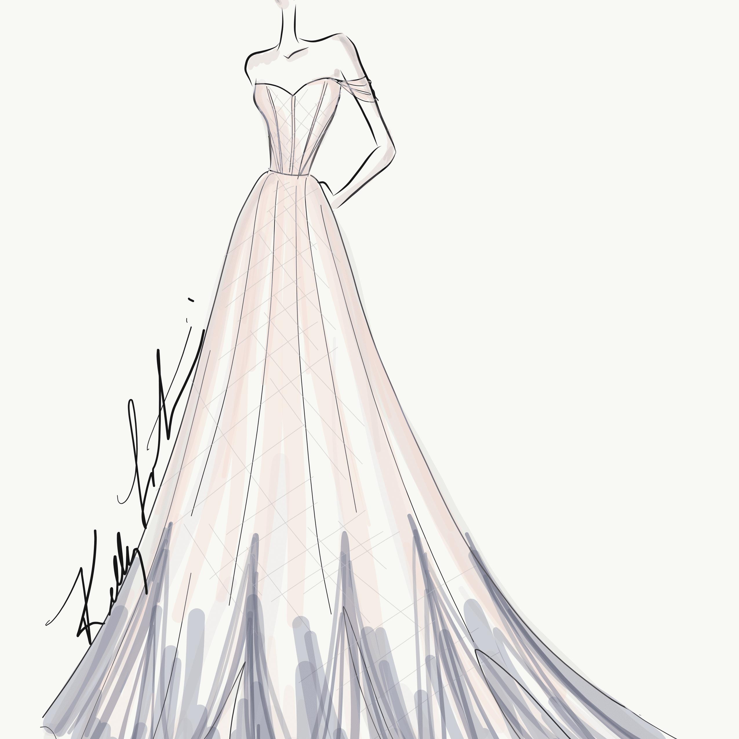 Kelly Faetanini Bridal Fashion Week Fall 2020 Sketch
