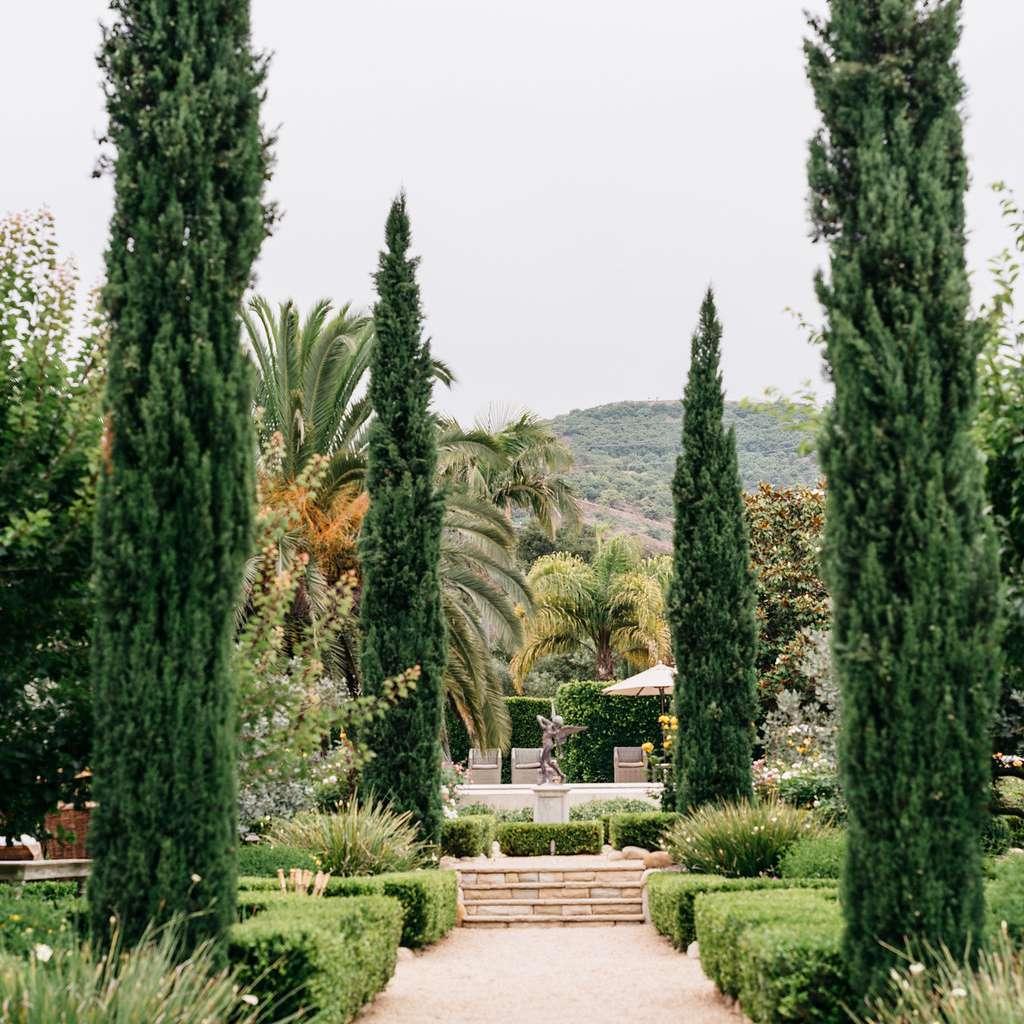 Wedding venue greenery