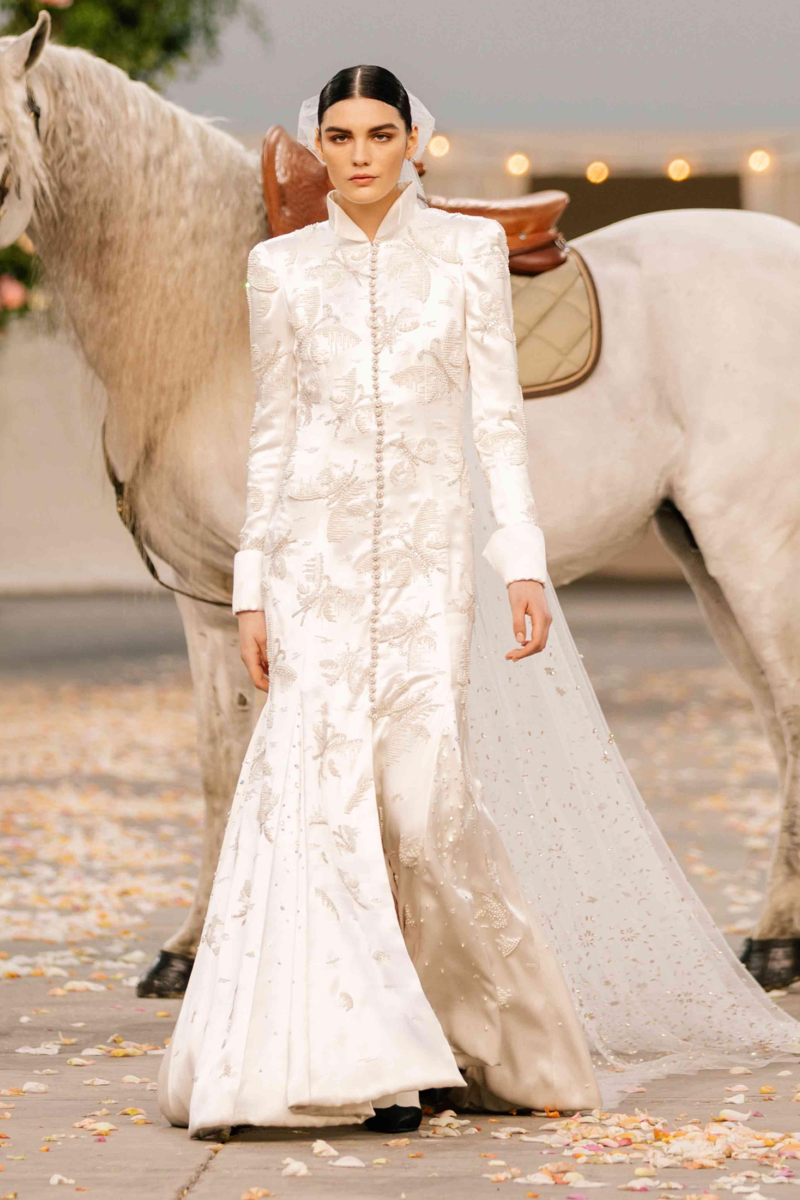 chanel couture bride