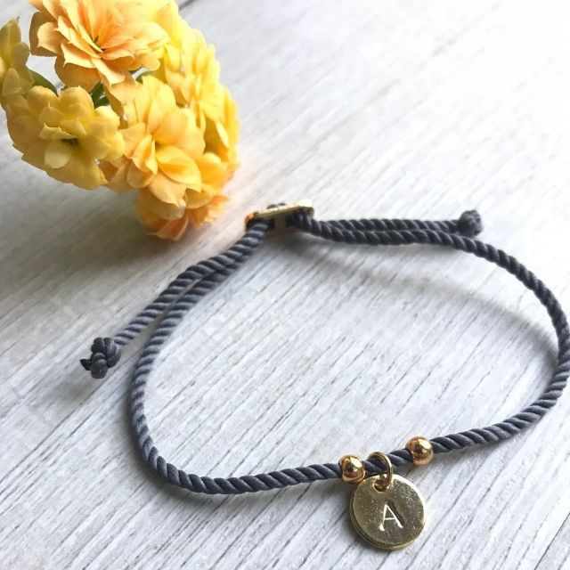 InitialJewelryGifts Cotton Cord Bracelet