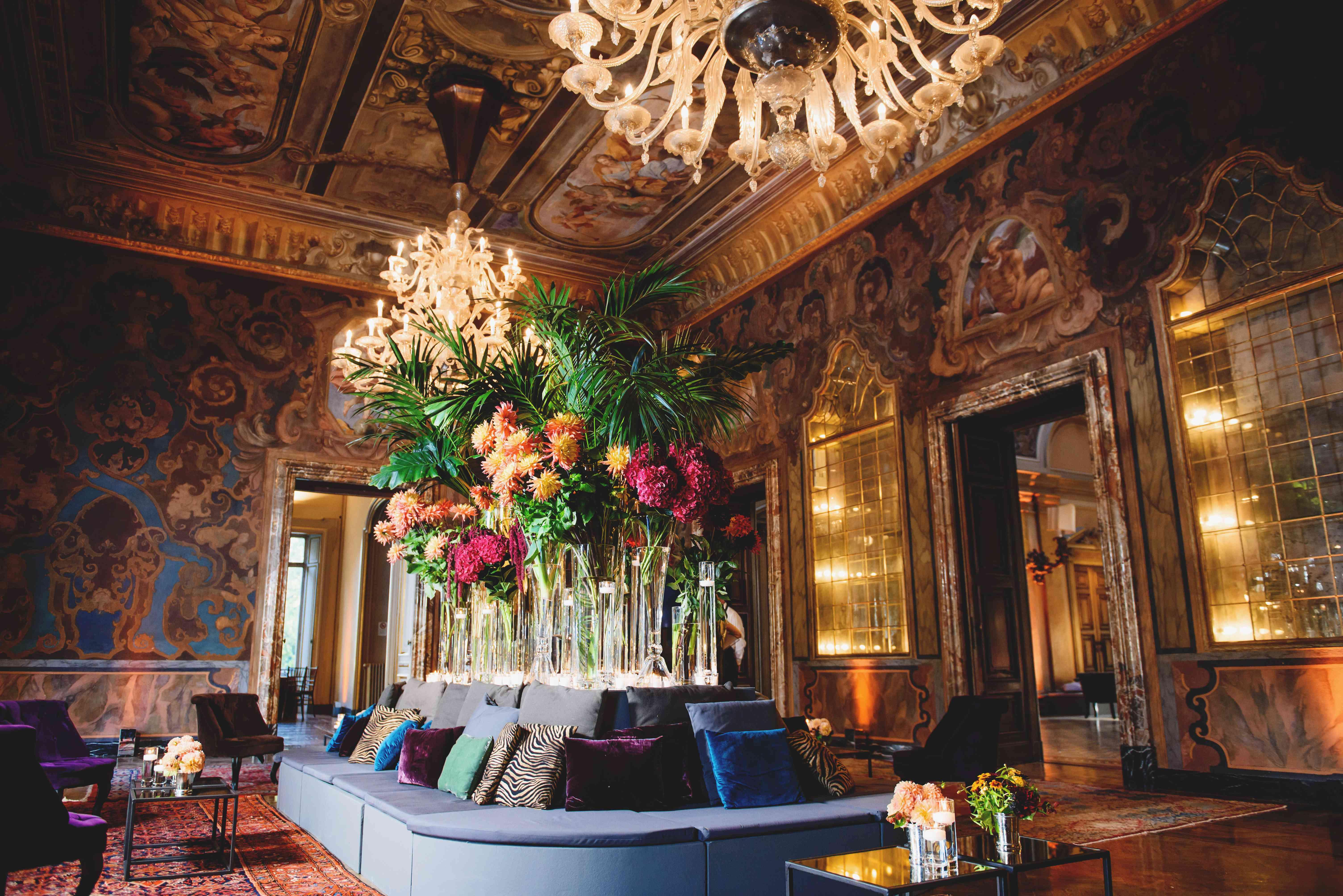 tropical wedding plant decorations