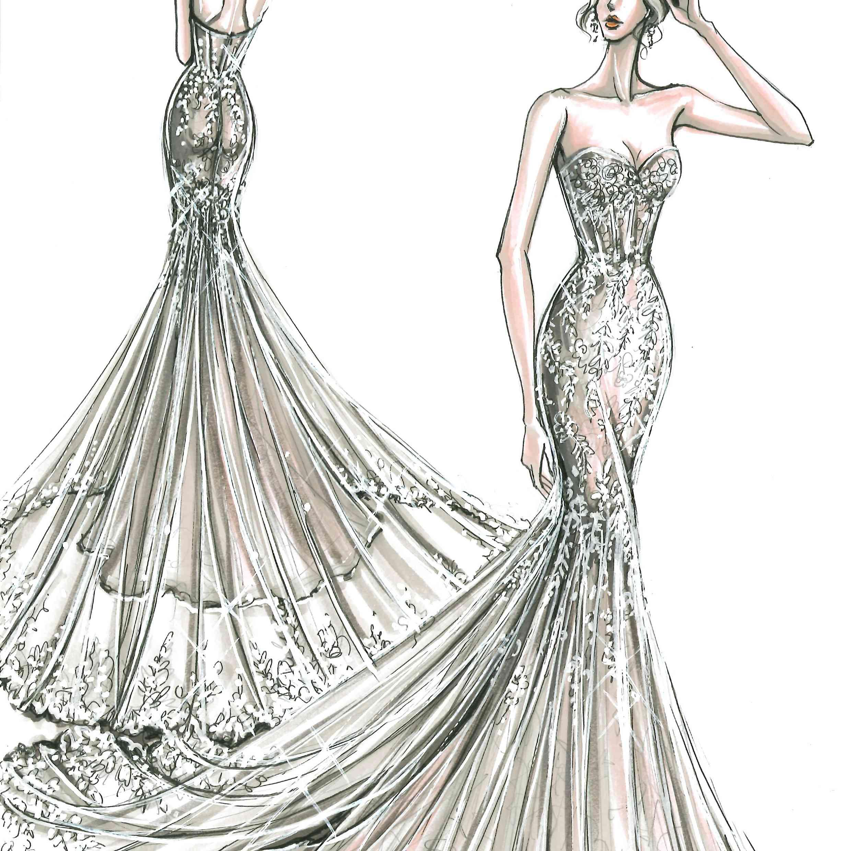 Melissa Sweet Bridal Fashion Week Fall 2020 Sketch