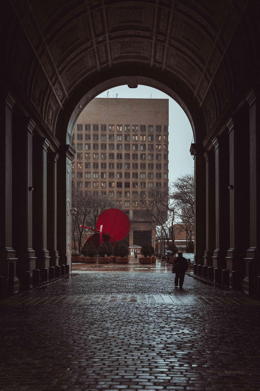 new york's city hall archway