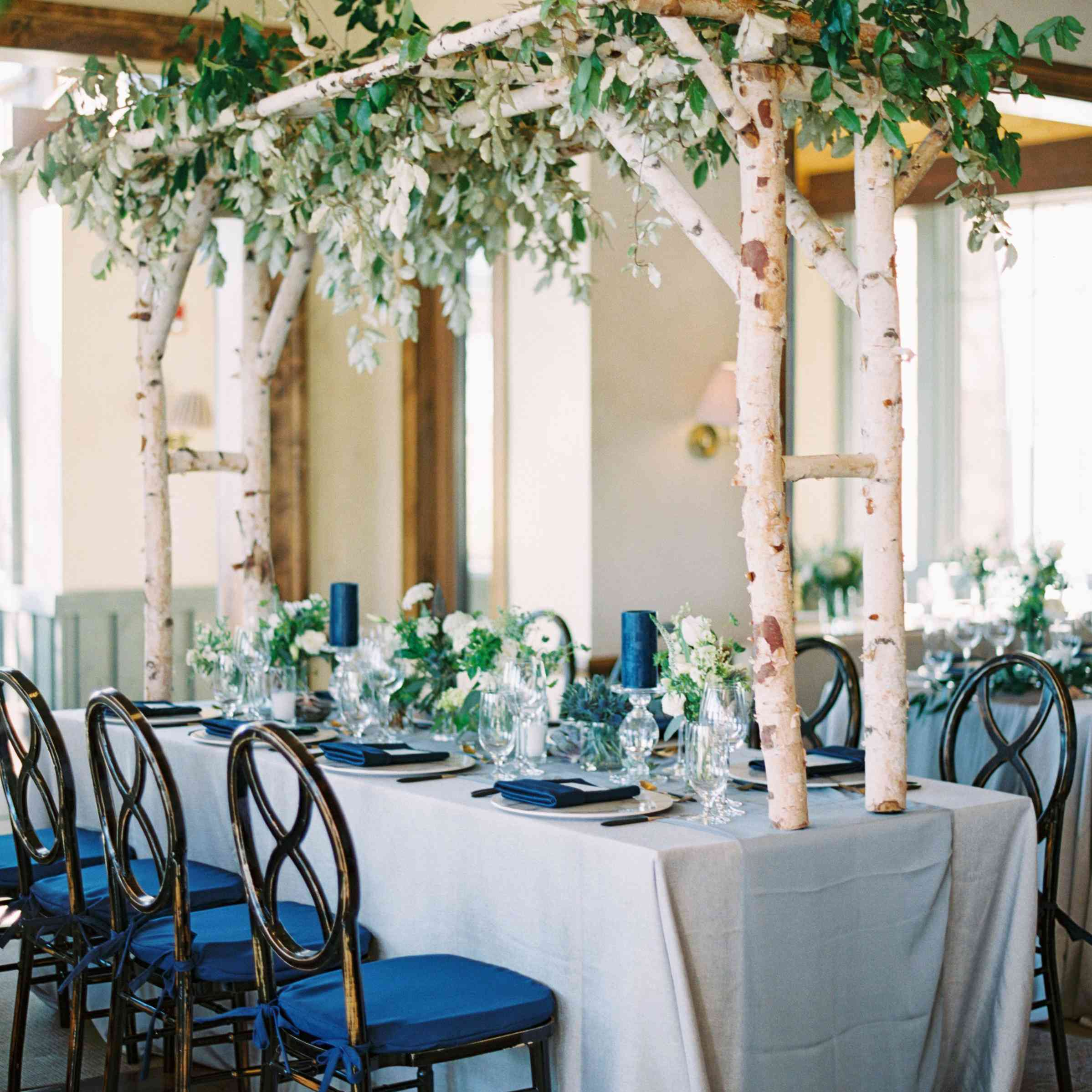 Reception table canopies