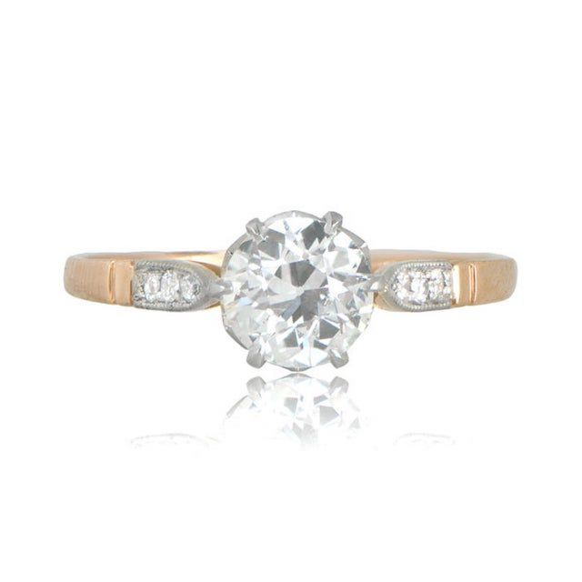 Etsy Old European Cut Diamond Vintage Style Engagement Ring