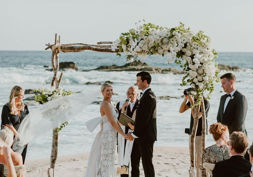 ceremony on beach