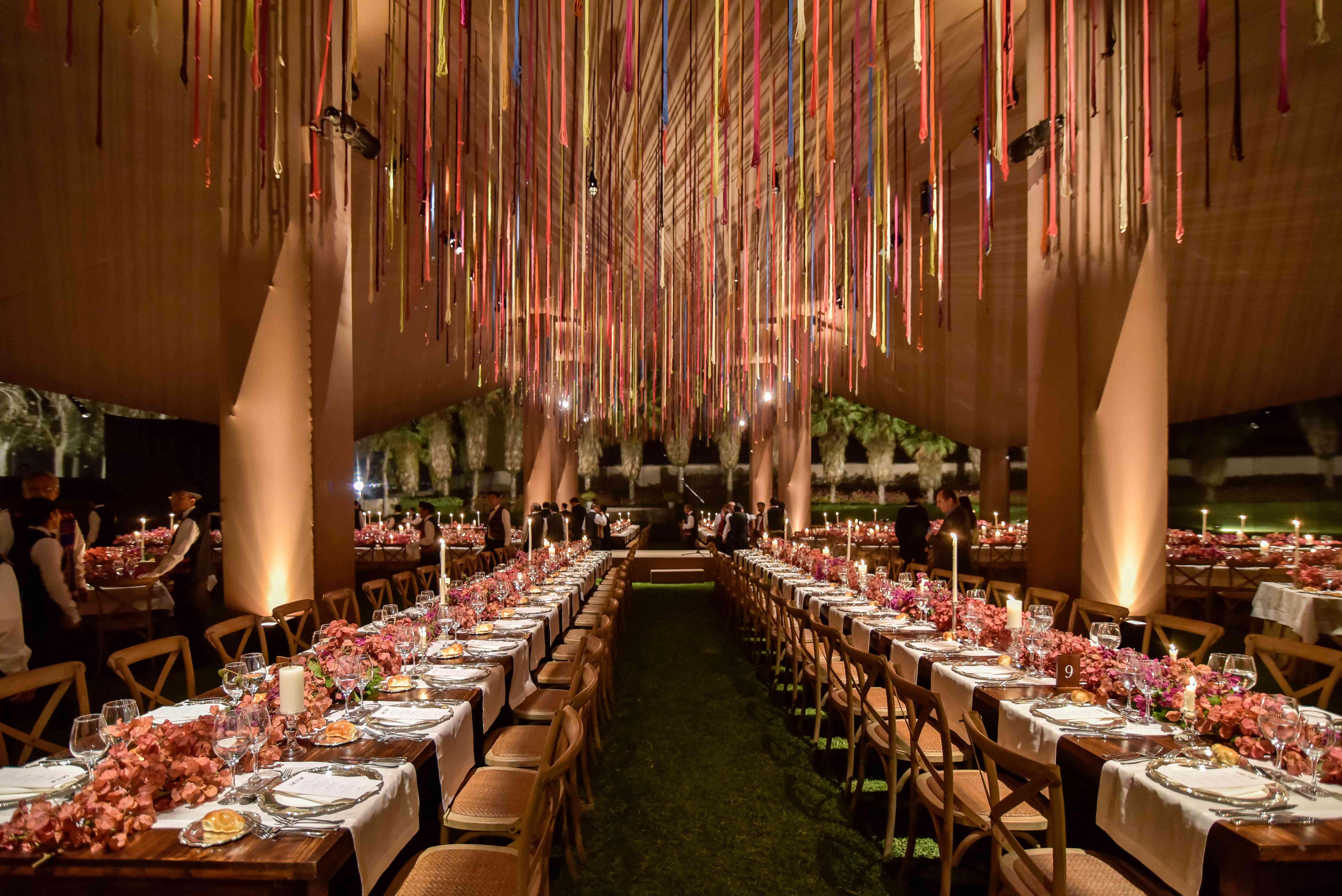 <p>Reception dinner decor</p><br><br>