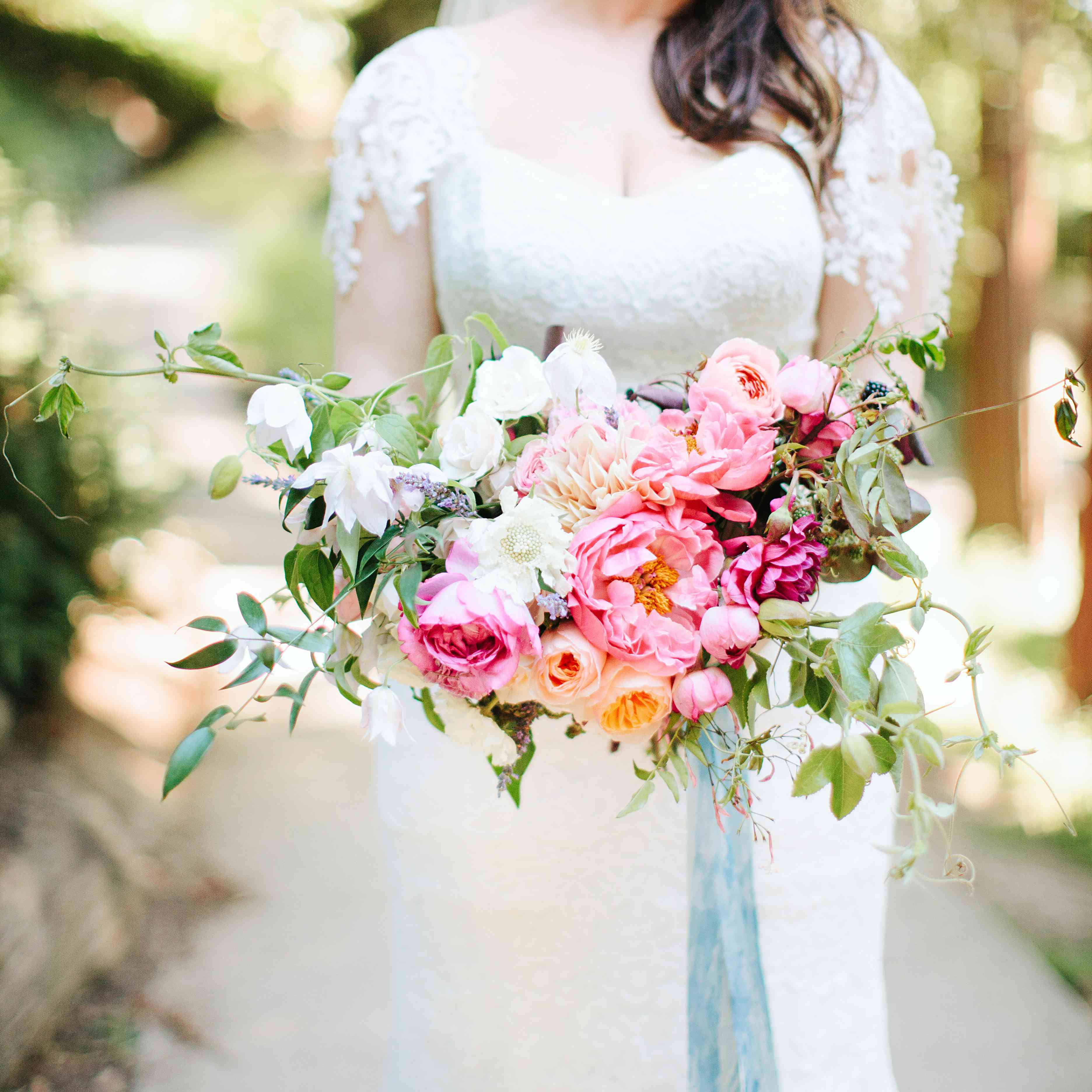 Brightly colored Peony bouquet