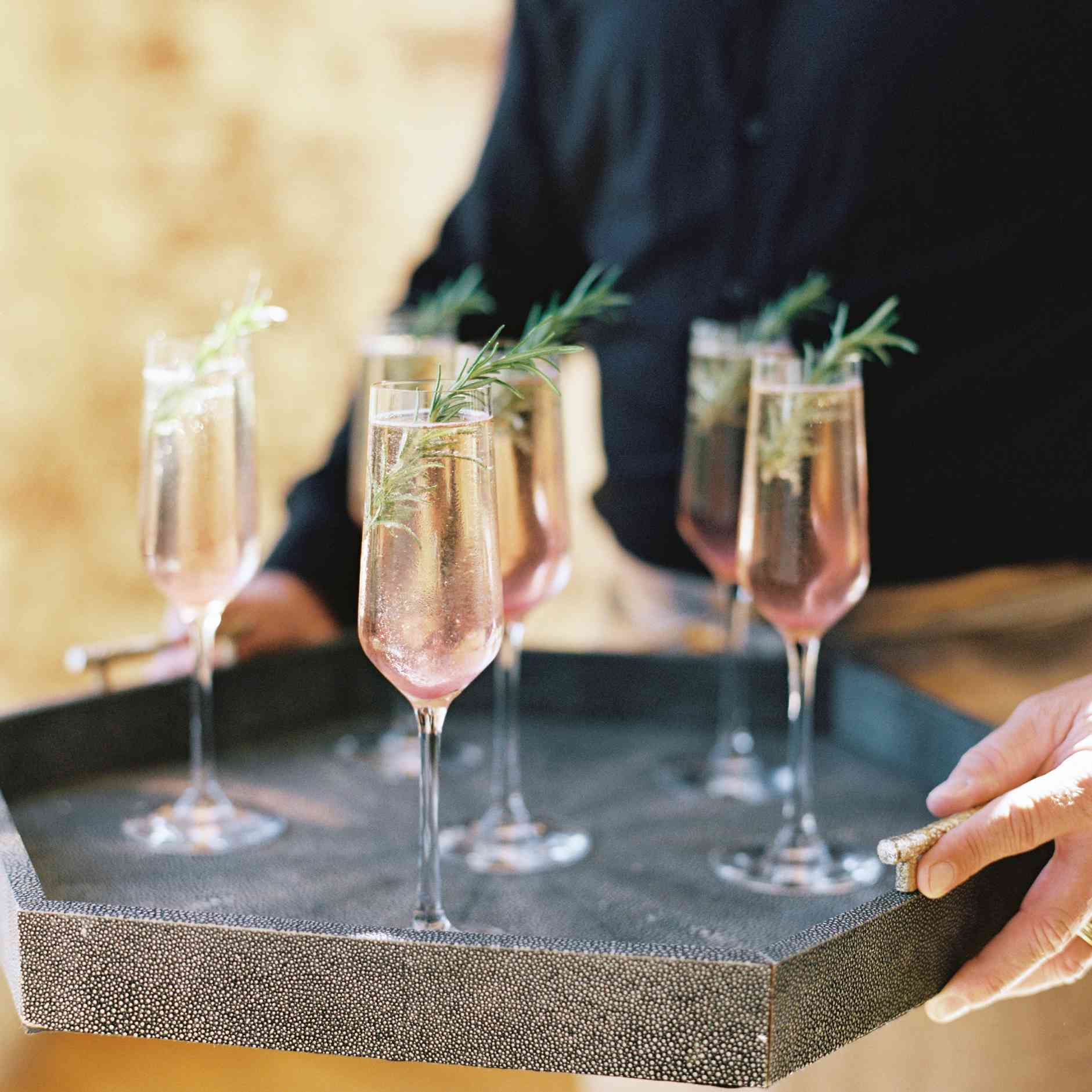 champagne sparkler cocktail