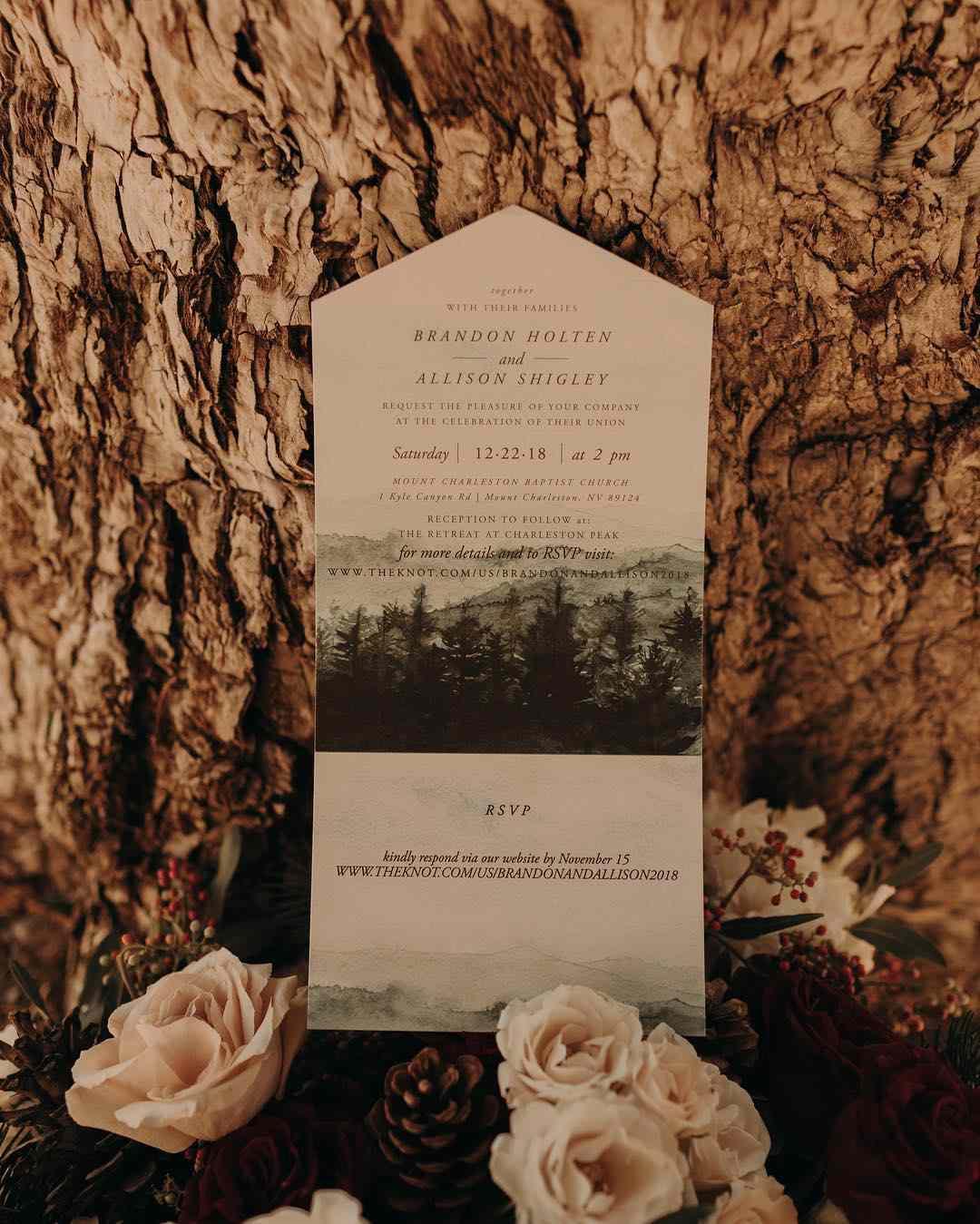 earth-inspired invitation