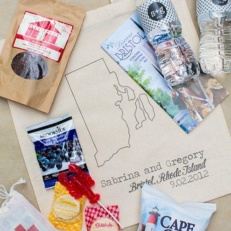 Nautical wedding welcome bag