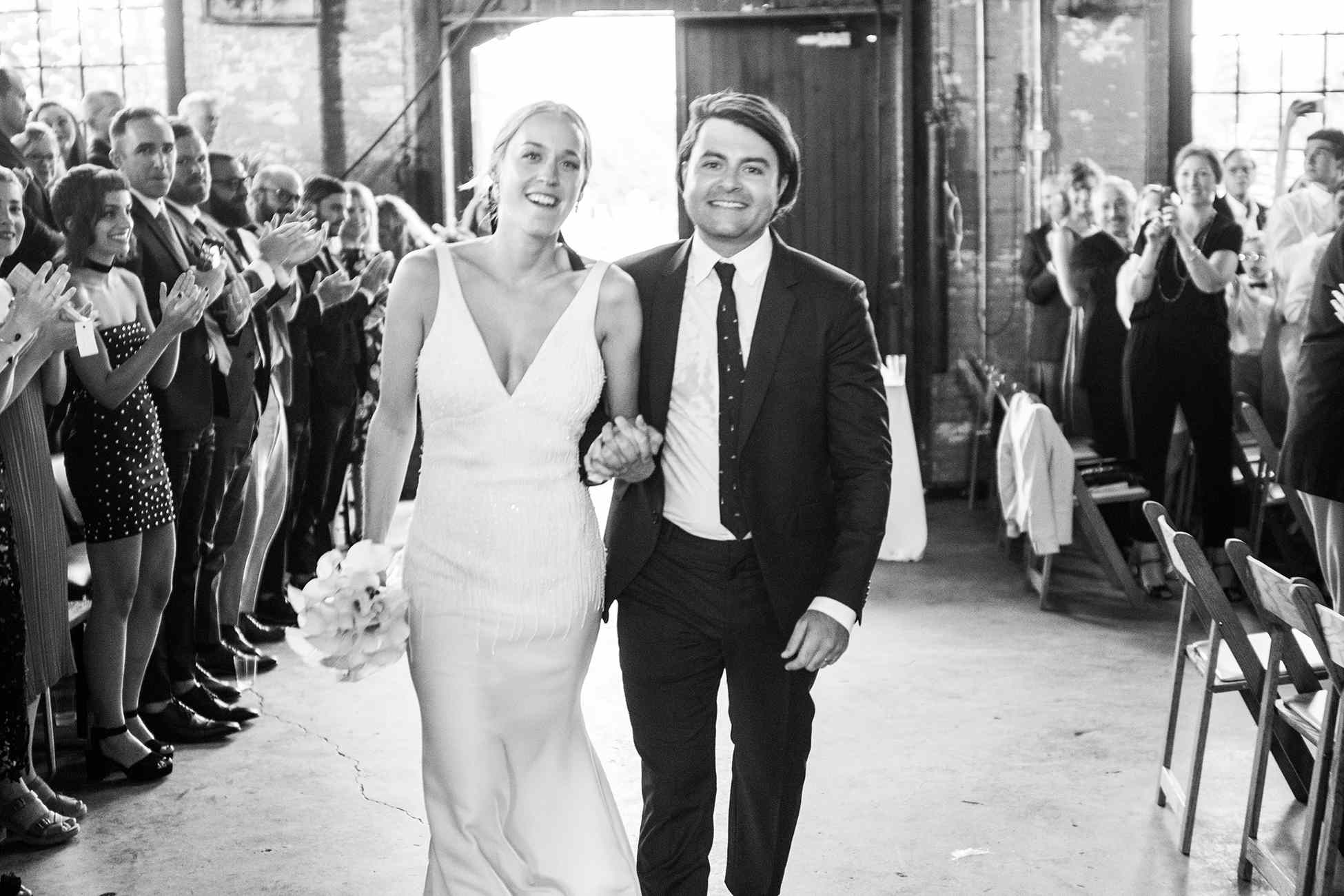 <p>bride and groom ceremony exit</p><br><br>