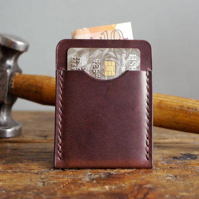 Kingsley Leather Dark Brown Leather Card Holder