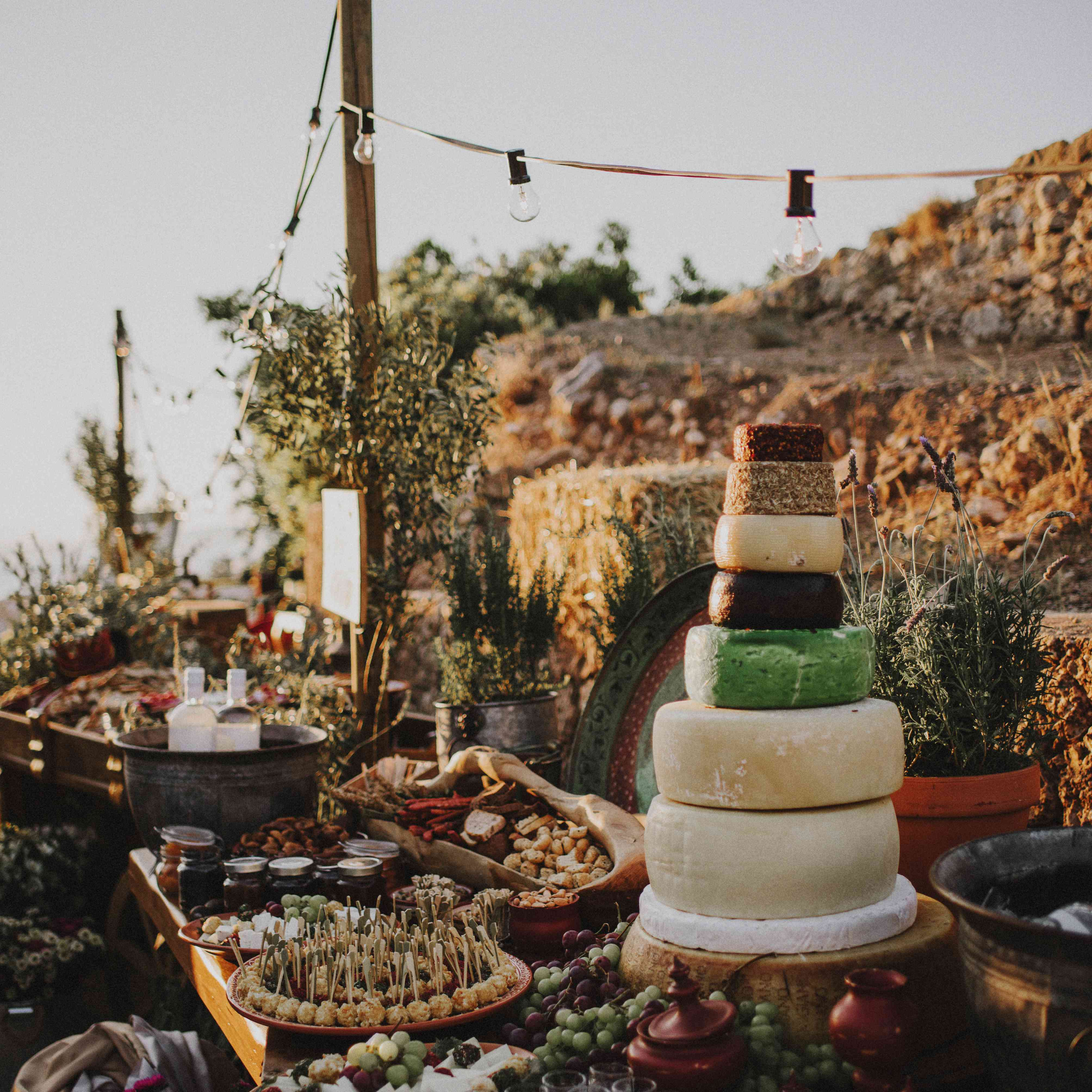 Petit Buffet Art Deco one couple's two over-the-top weddings in greece and lebanon