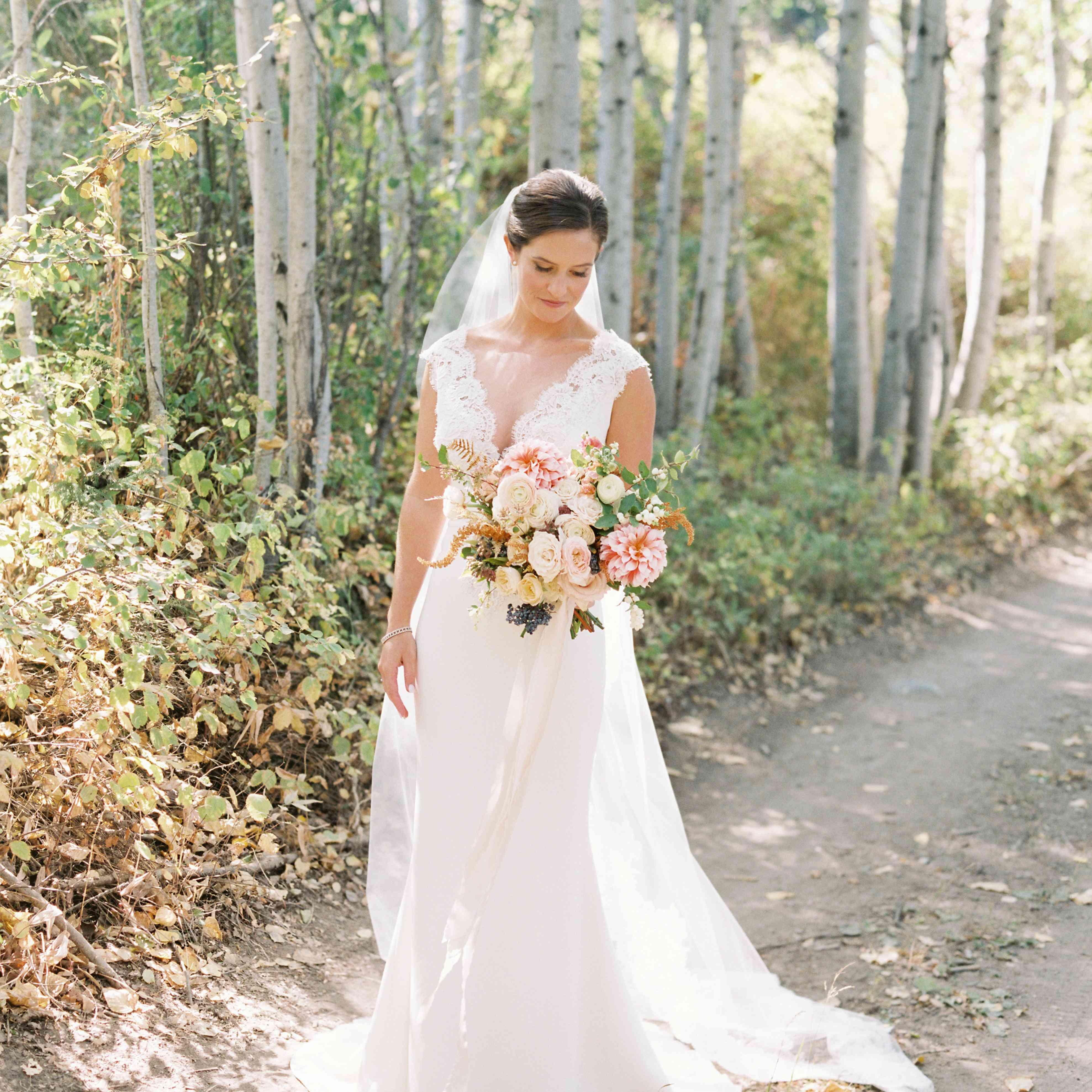 Bride outdoor wilderness setting