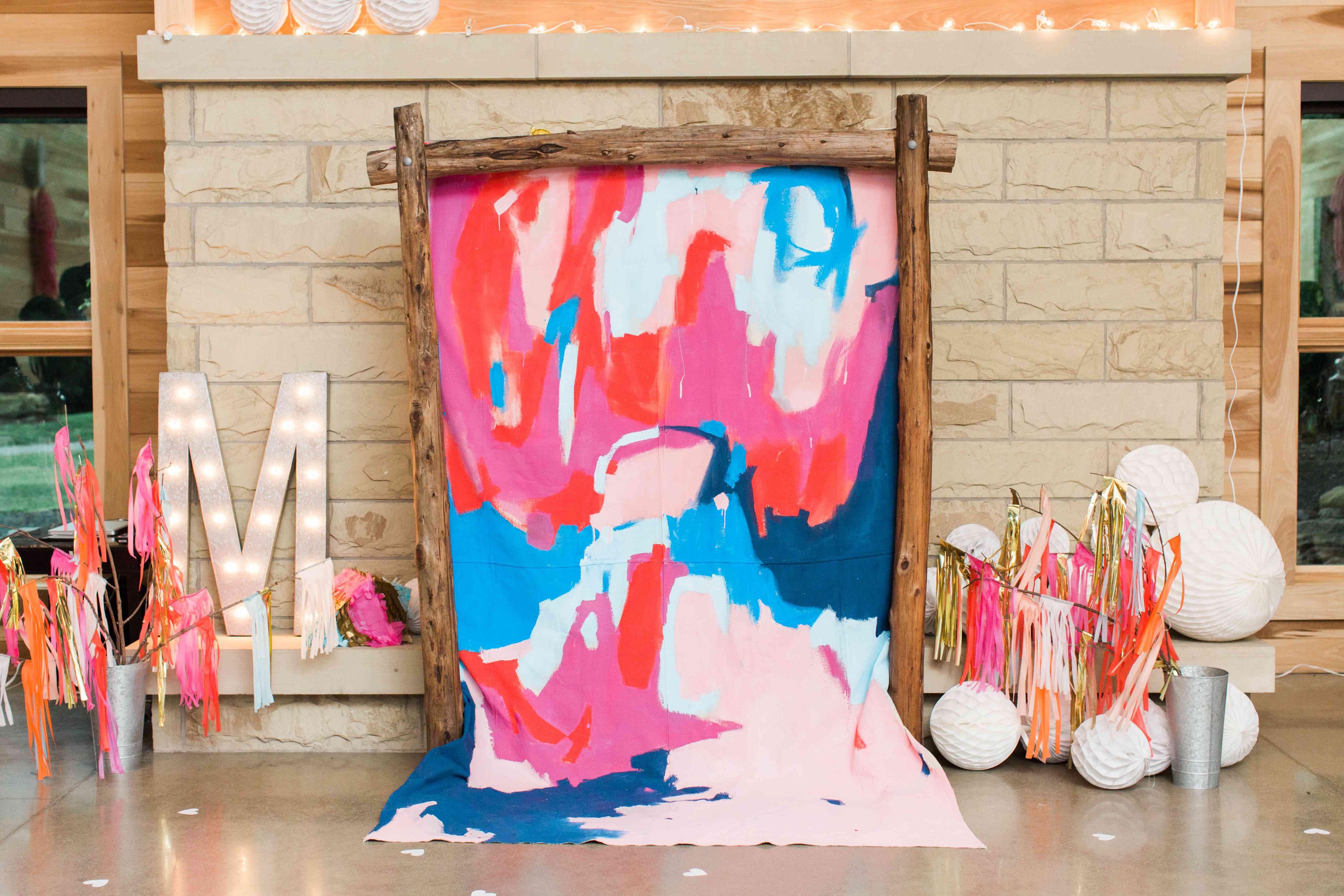 Watercolor nuptial altar