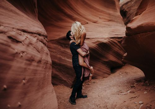 Engagement Photo in Canyon