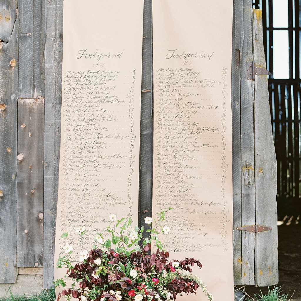 Rustic looking scrolls are the perfect accent to barnyard nuptials.