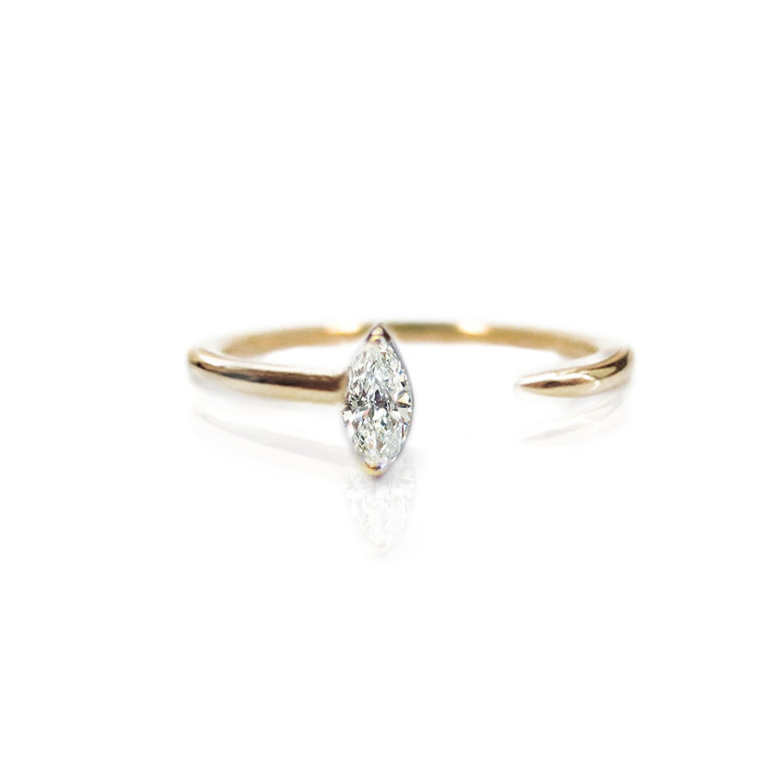 KatKim Marquise Crescendo Ring