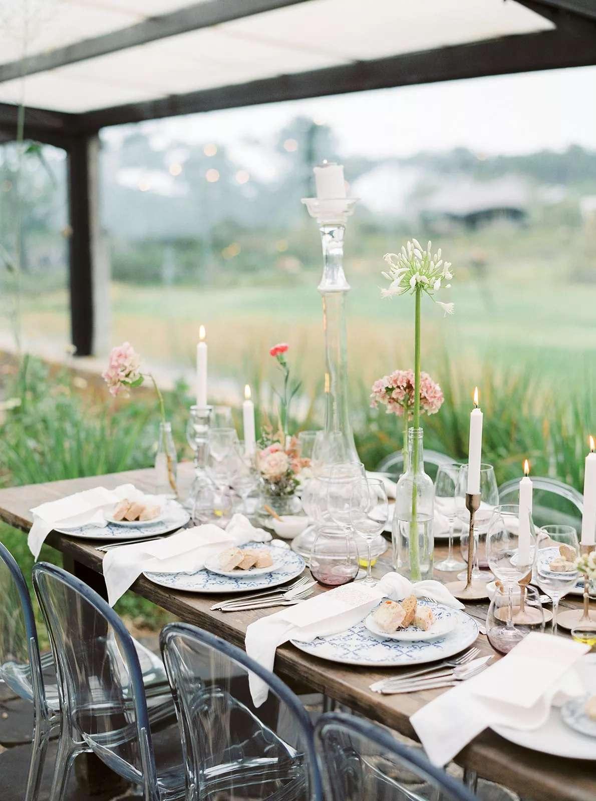 single long stem flowers in vases